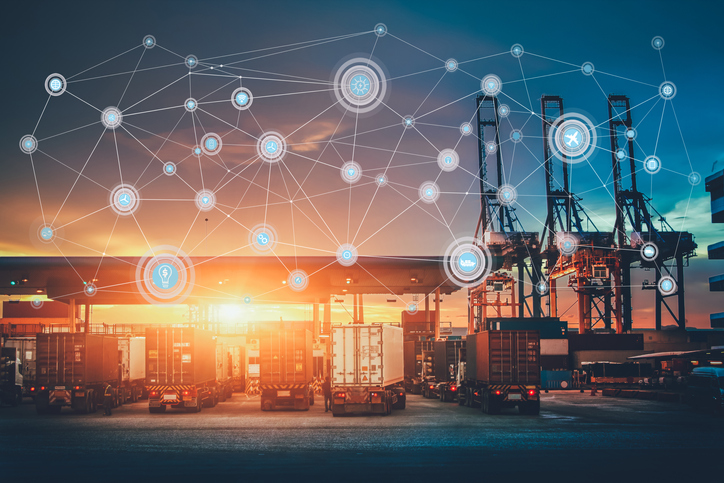 Trucks connected supply chain