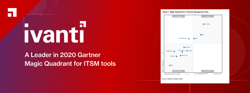 2020 Gartner Magic Quadrant for ITSM Tools Recognizes Ivanti a Leader