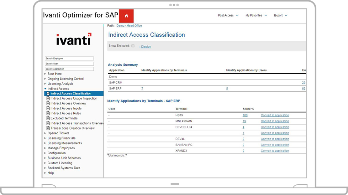 Optimizer pour SAP
