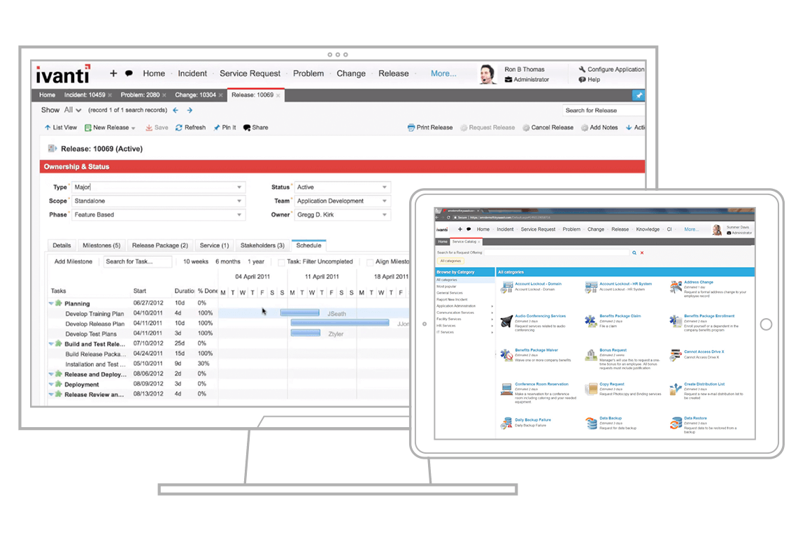 ivanti service management screenshots