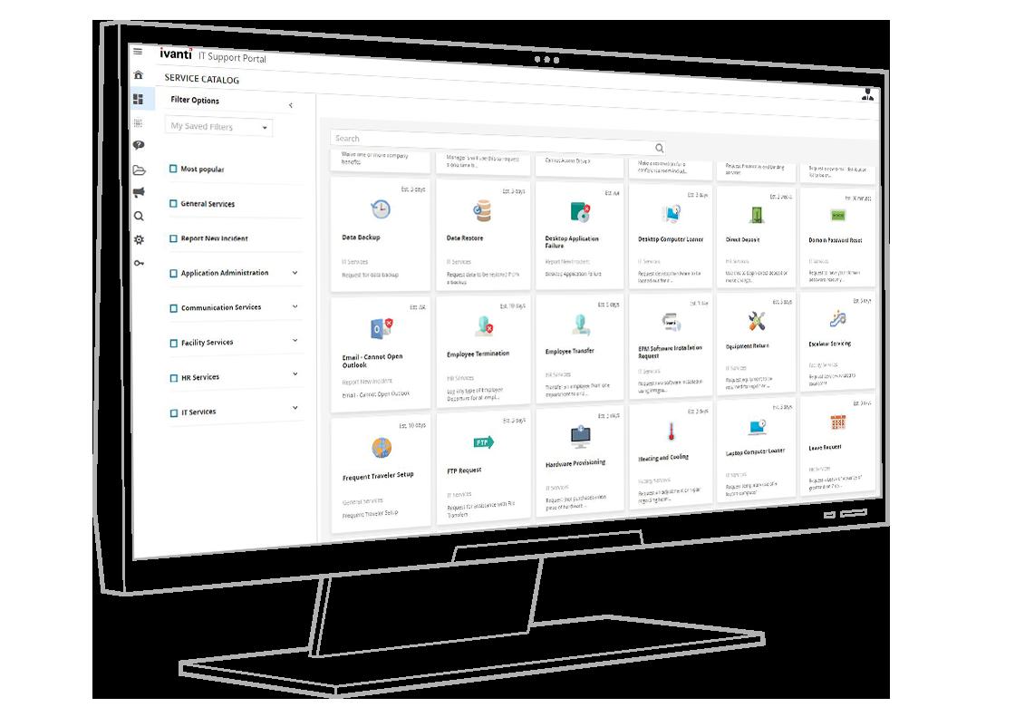 ivanti service catalog screenshot