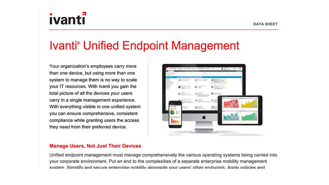 ivanti unified endpoint management